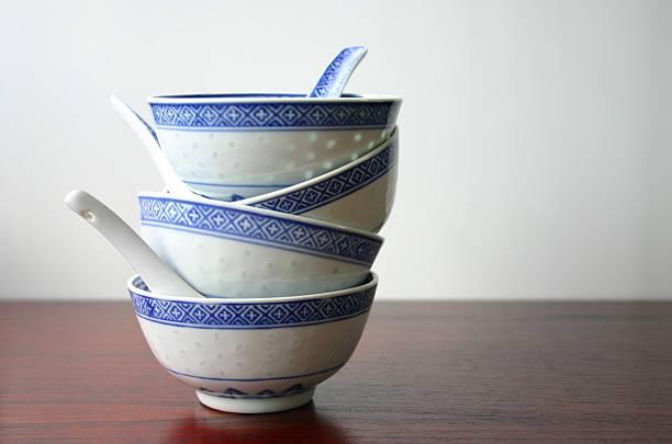 orientalische suppe bowls – viktorianischen series - besteck günstig stock-fotos und bilder