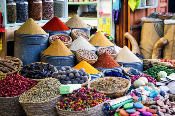 oriental spices - north africa stock photos and pictures