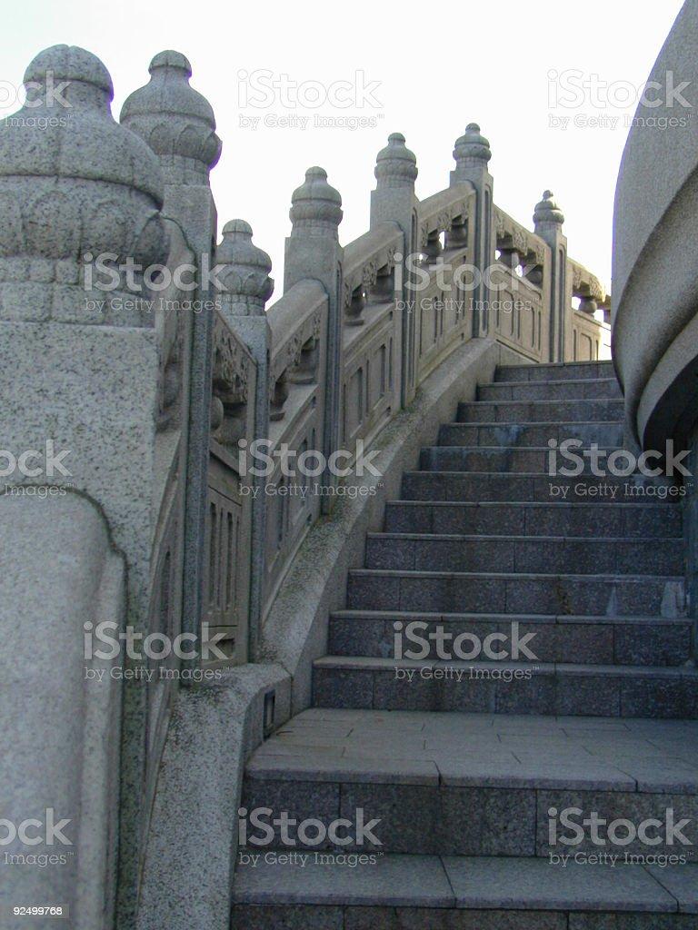 Oriental Stone Staircase royalty-free stock photo