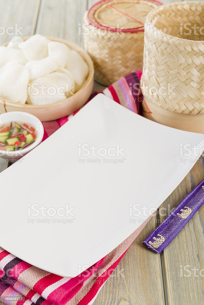 Oriental Table Set-Up royalty-free stock photo