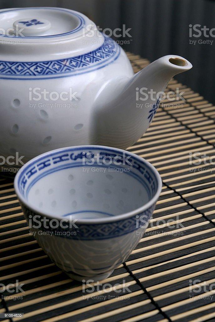 Oriental Tea set royalty-free stock photo