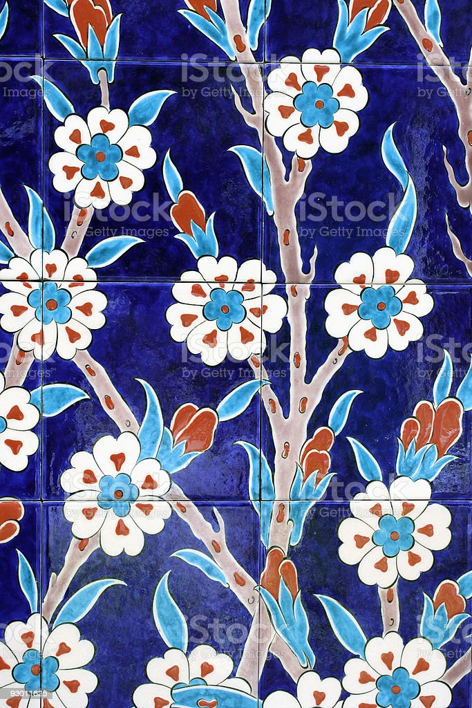 Oriental tiles stock photo