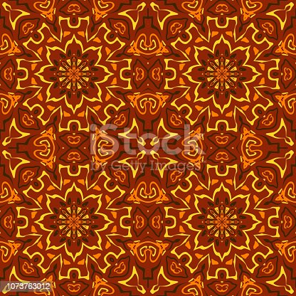 Traditional Classic Oriental Mosaic Ornament Works - seamless high resolution and quality pattern tile for 2D design and 3D as background or texture for objects - ready to use.