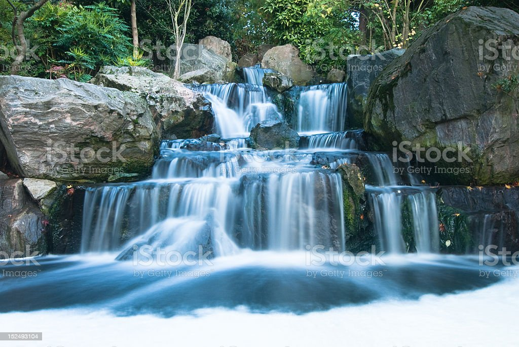 Oriental waterfall landscape royalty-free stock photo