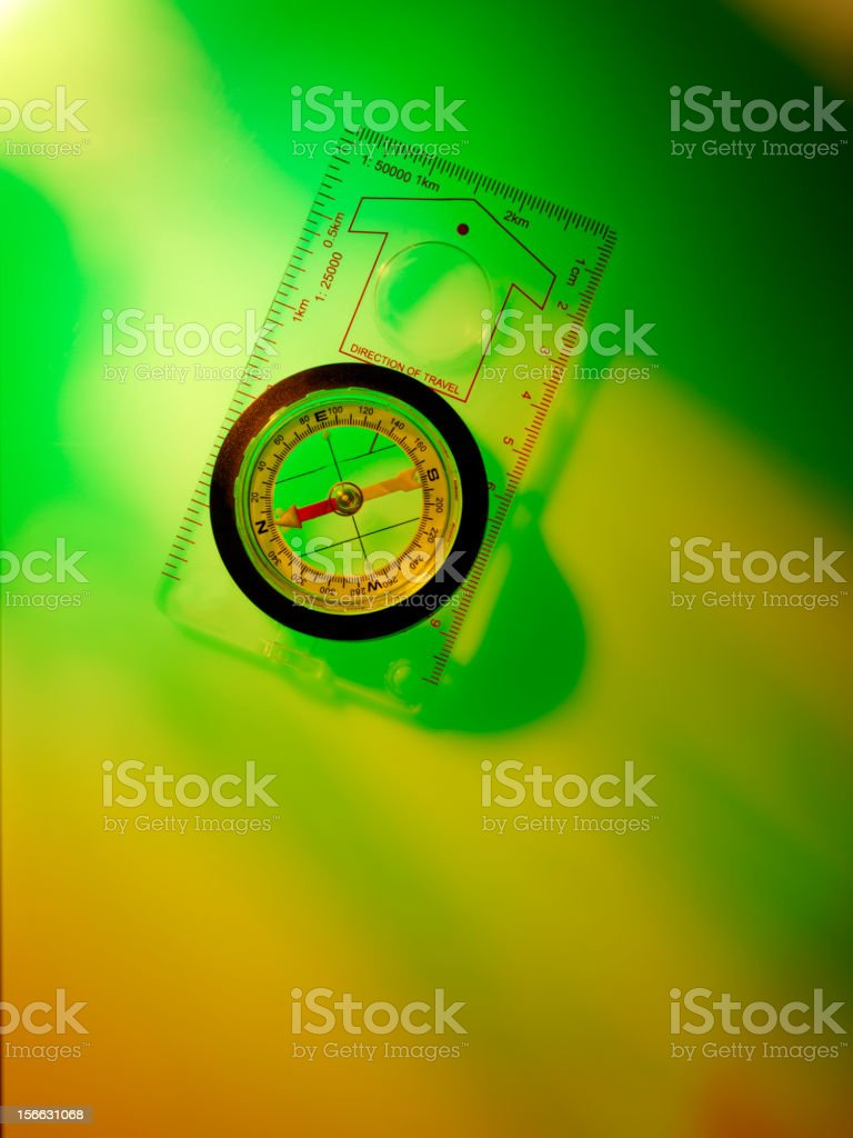 Orienteering Compass stock photo