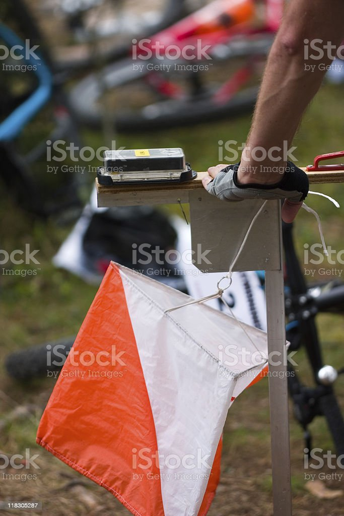 Orienteering Control royalty-free stock photo
