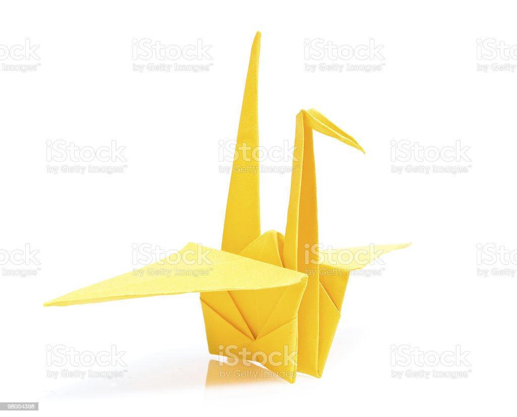 origami bird royalty-free stock photo