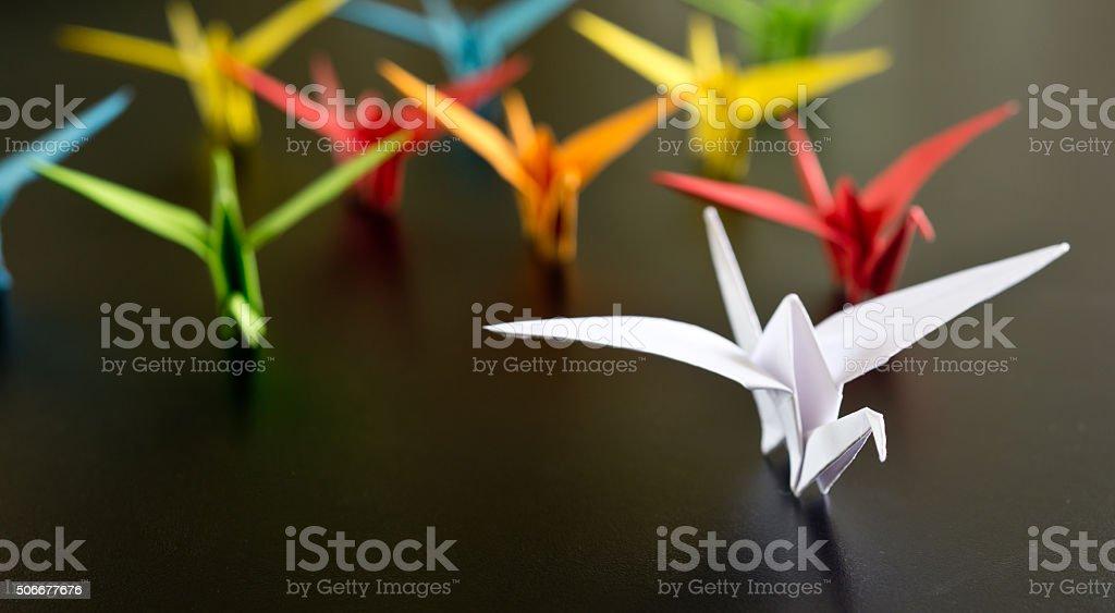 origami birds stock photo