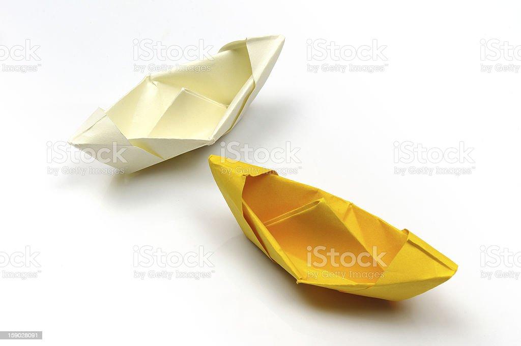 Origami boat royalty-free stock photo