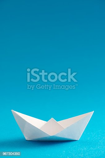 istock Origami Boat 967304350