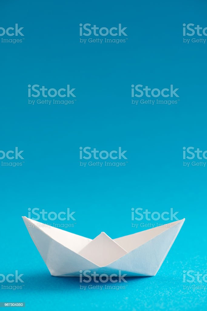 Origami Boat stock photo