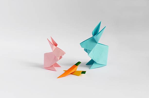 Origami Bunny stock photo