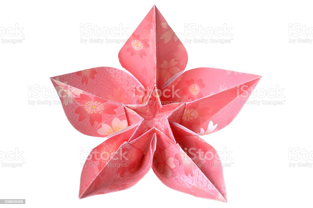 Origami carambola flower stock photo