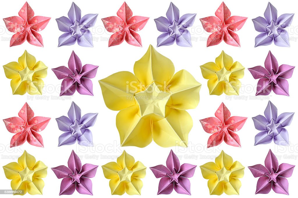 Origami Carambola Flower Stock Photo More Pictures Of Art Istock