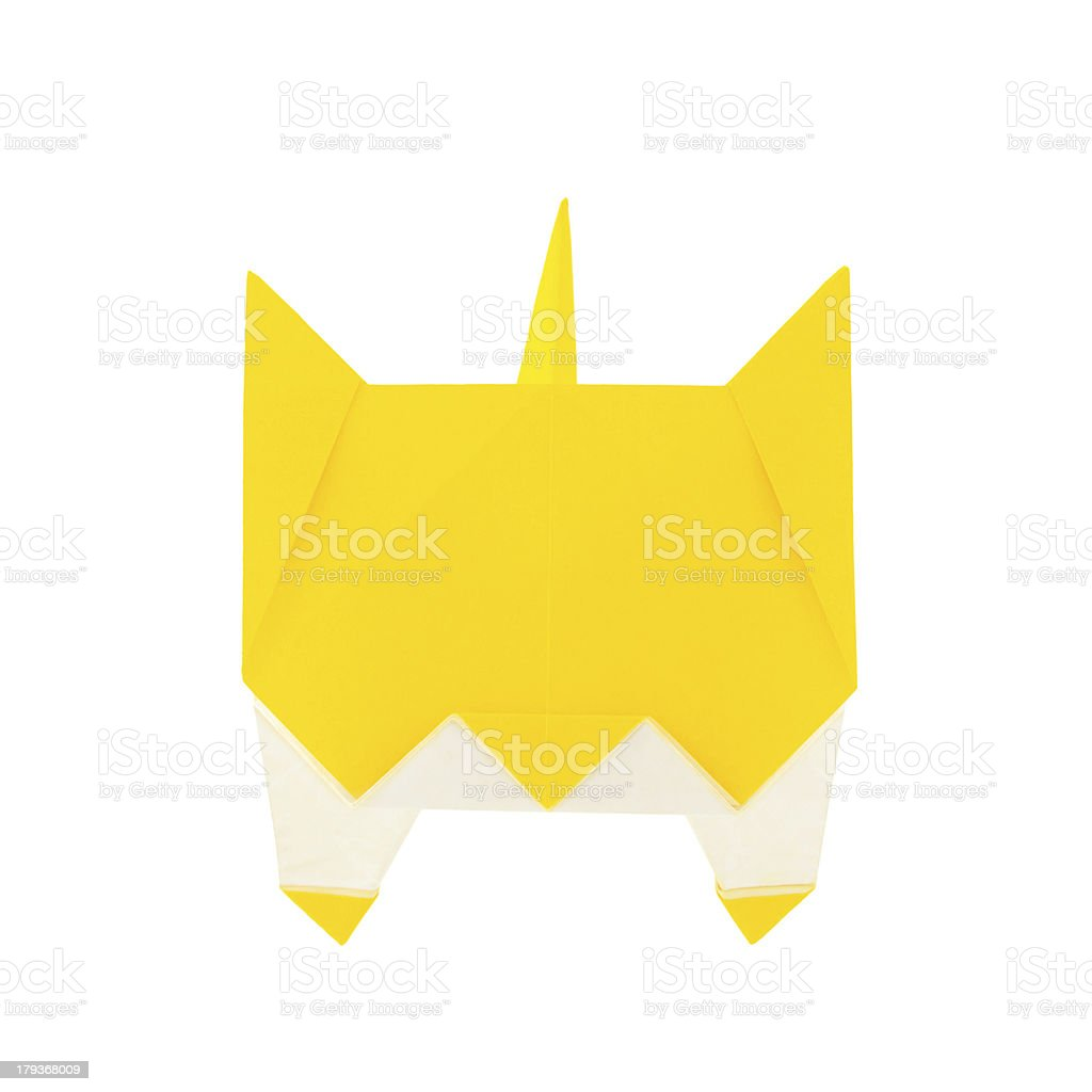 Origami cat royalty-free stock photo