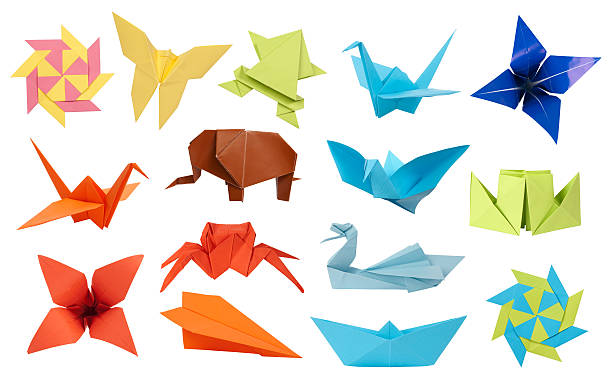 origami collection - origami photos et images de collection