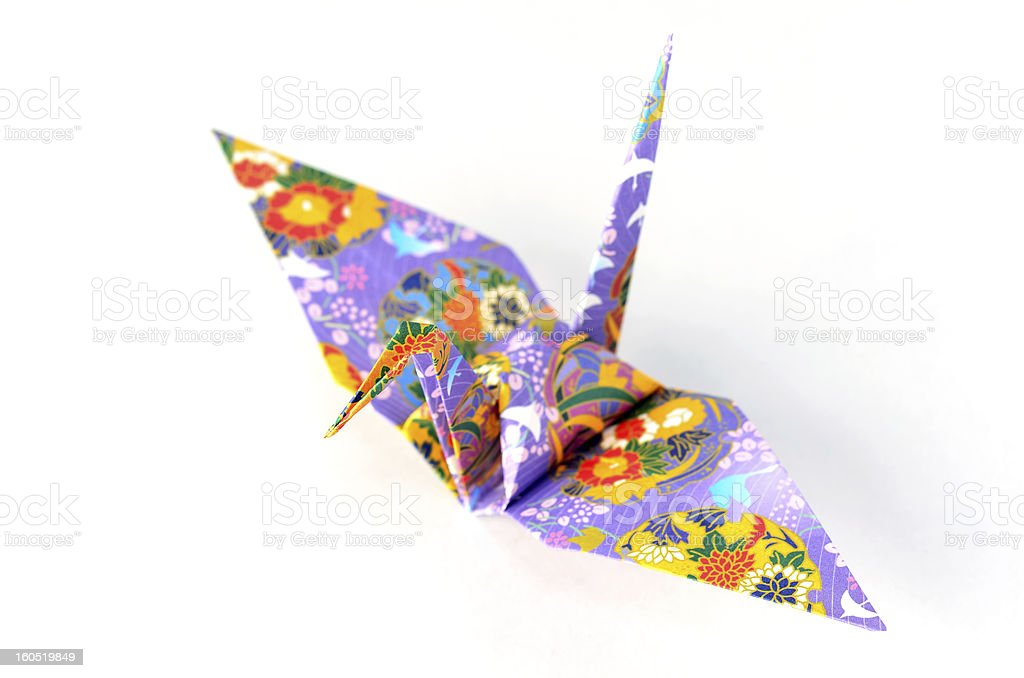Origami Crane royalty-free stock photo