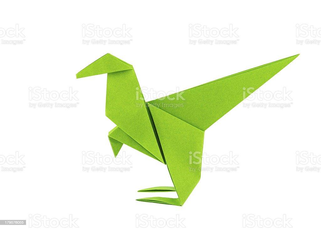 Origami dinosaur - Raptor royalty-free stock photo