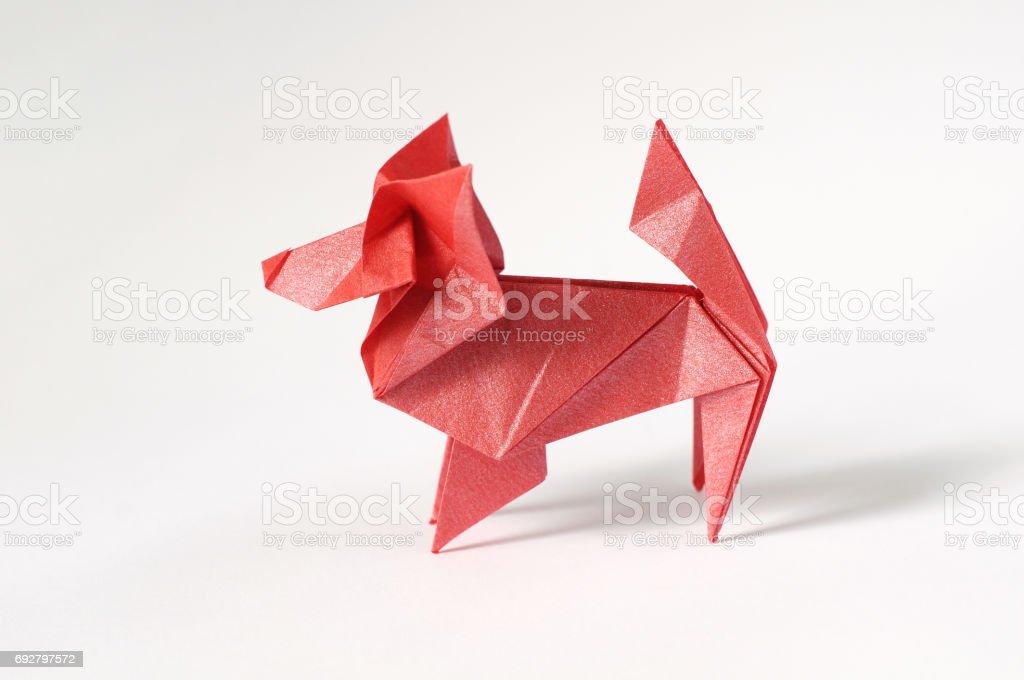 Origami Dog stock photo