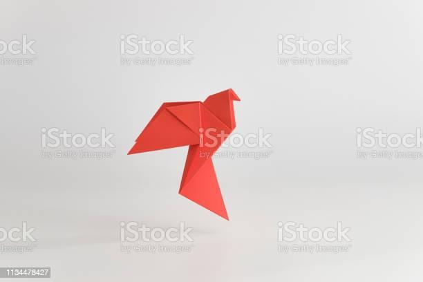 Origami dove made of red paper on white plain background minimal picture id1134478427?b=1&k=6&m=1134478427&s=612x612&h=h c6pu1k7mjuakyycu2sftcrenvsl0dnr9g1eqjrzis=