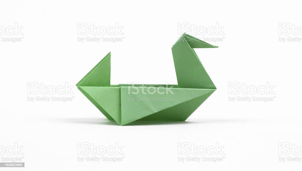 Origami Duck stock photo