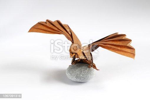 Origami Brown Paper Eagle