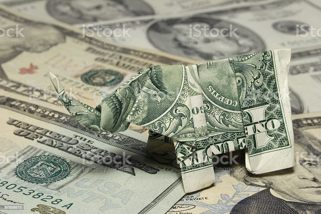 Origami Elephant royalty-free stock photo