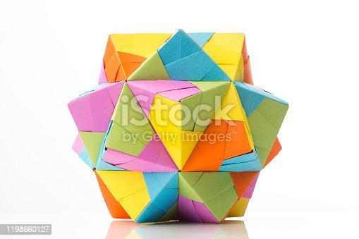Origami multicolored polyhedron.