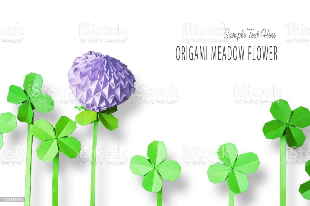 Origami flower clover photo libre de droits