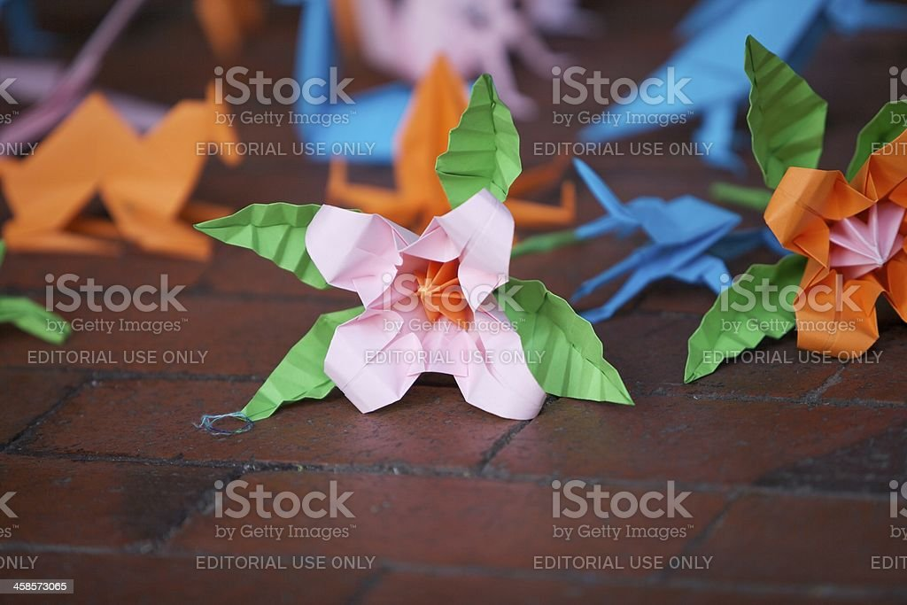 Origami Flower... stock photo