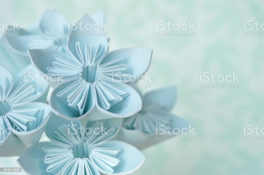 Origami flower stock photo
