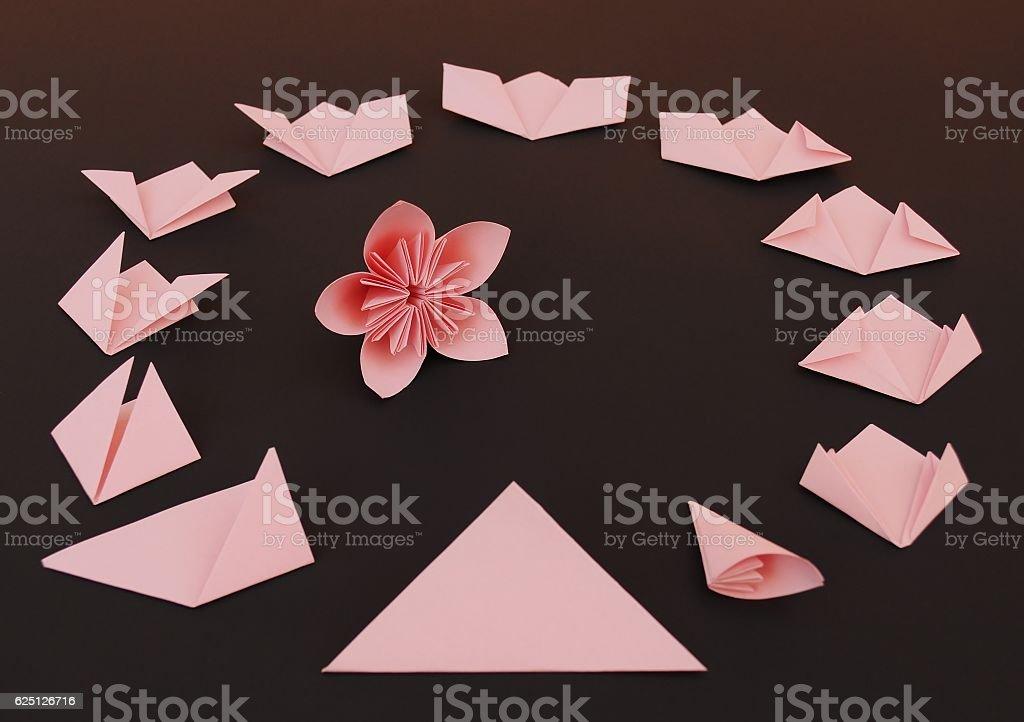 Origami flowers instruction stock photo more pictures of advice origami flowers instruction royalty free stock photo mightylinksfo