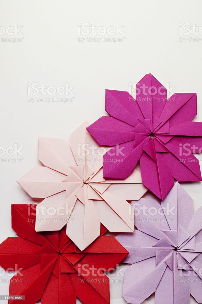 Origami - flowers royalty-free stock photo