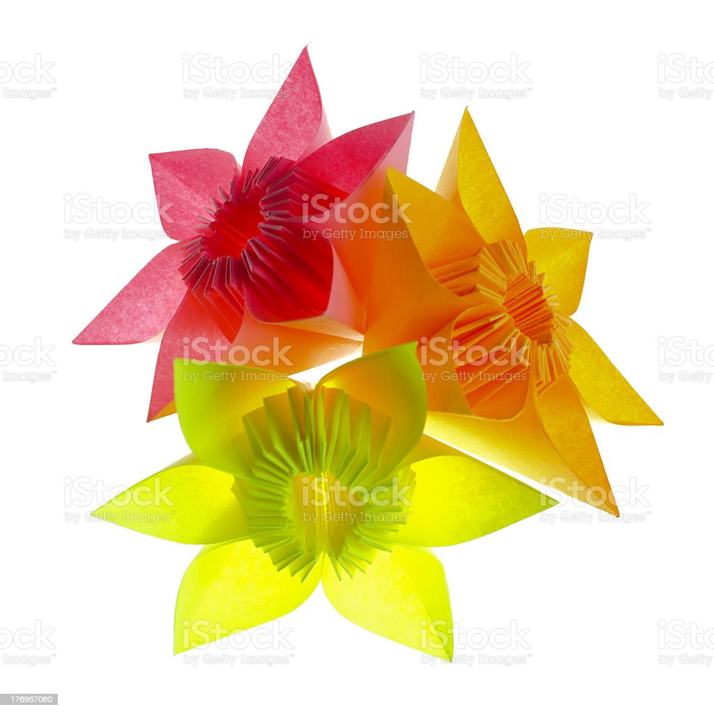 Origami flowers royalty-free stock photo