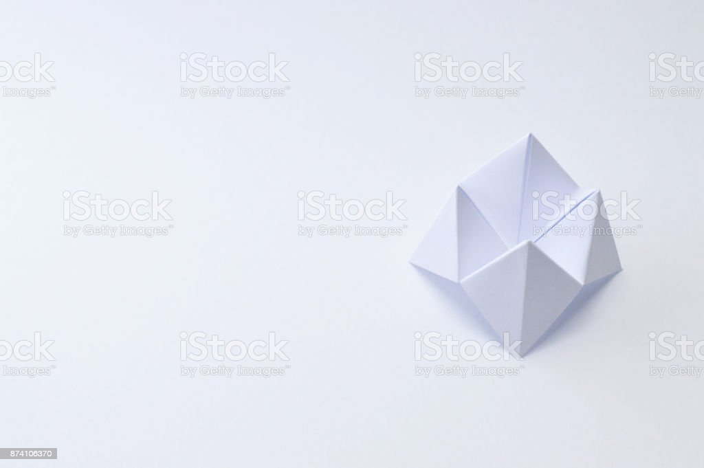 Origami Fortune Teller On White Background Stock Photo More