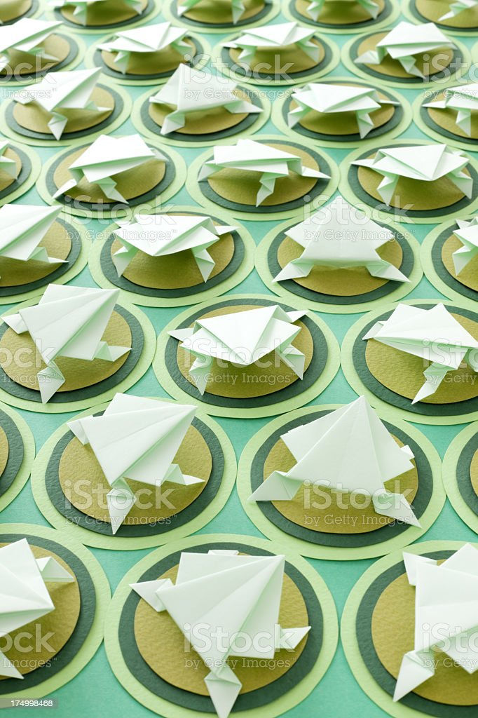 Origami frogs royalty-free stock photo