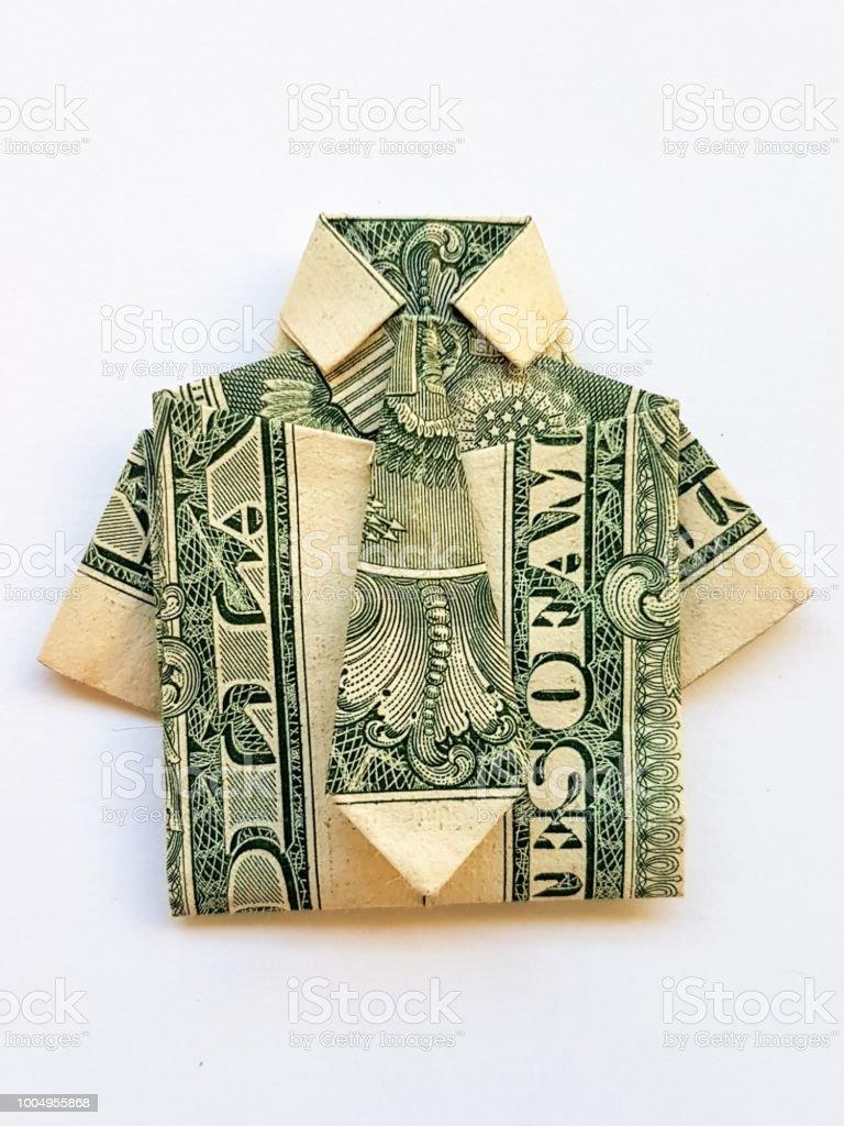 Geld Origami Shirt Mit Tie Und Pants Suit Mit Zwei Echten ...   1024x768