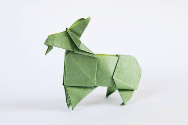Origami Goat stock photo