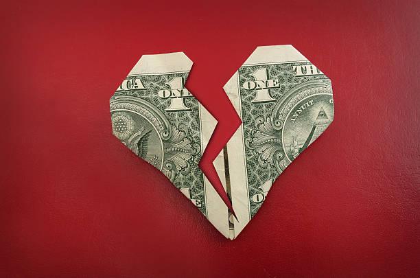 origami heart stock photo