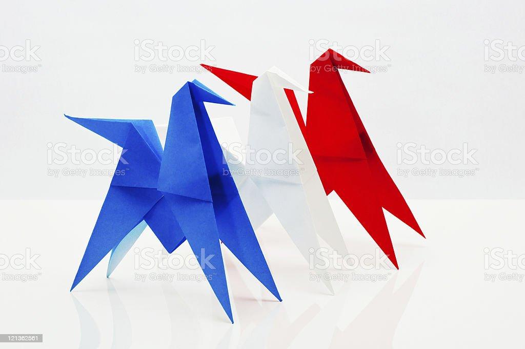 Origami - horses royalty-free stock photo