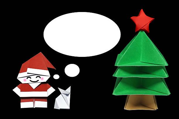 origami in form von weihnachts-konzept - weihnachten japan stock-fotos und bilder