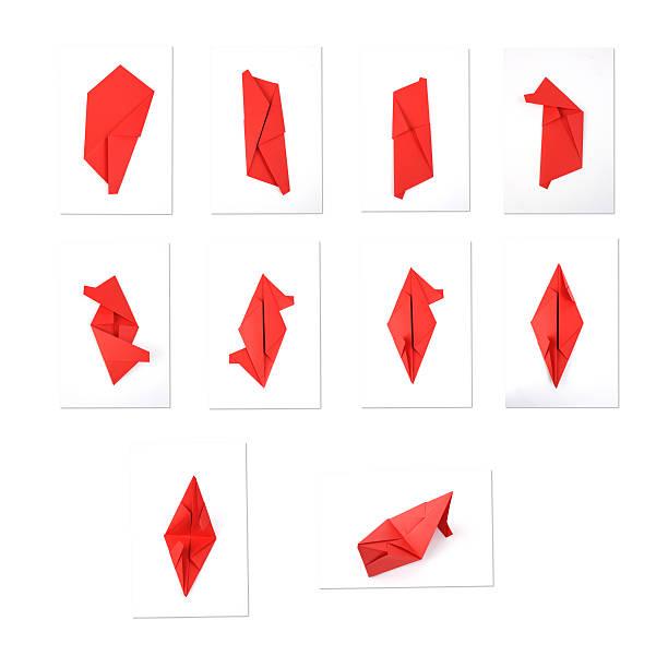 origami-unterricht - origami anleitungen stock-fotos und bilder