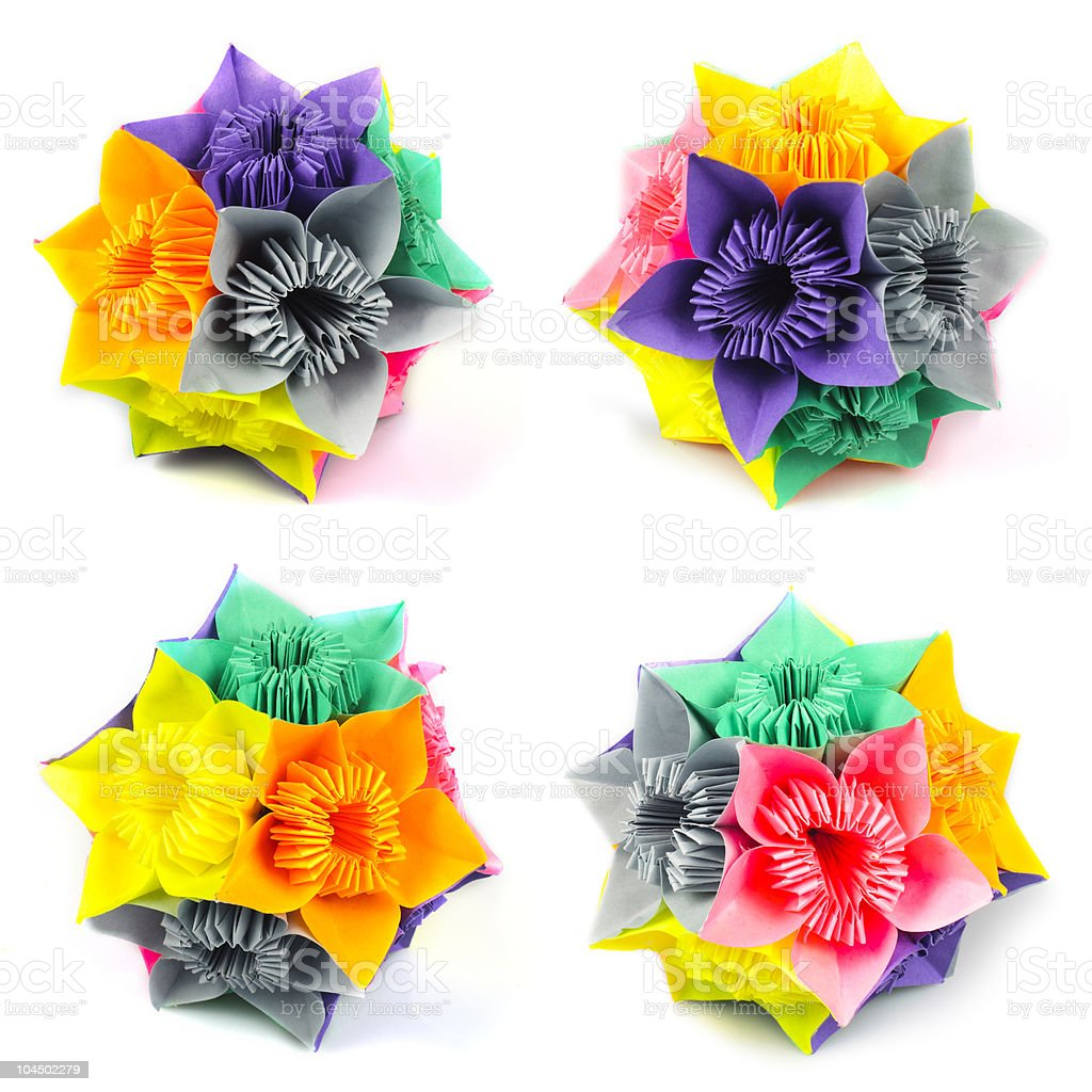 Origami Kusudama Flower Stock Photo More Pictures Of Art Istock