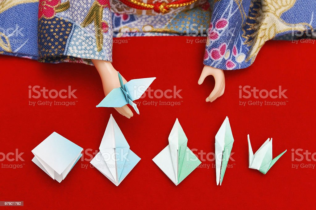 Origami lesson royalty-free stock photo