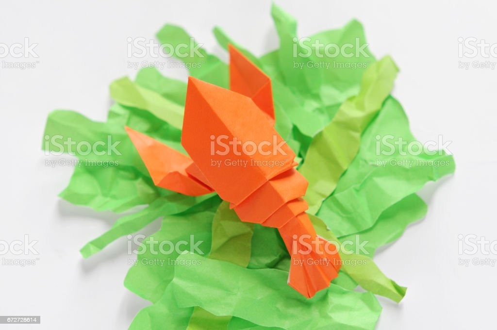 Origami Lobster Royalty Free Stock Photo