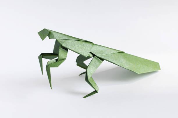 Origami Mantis stock photo