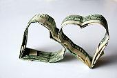 istock Origami Money Hearts Made from U.S. Dollars 157168035