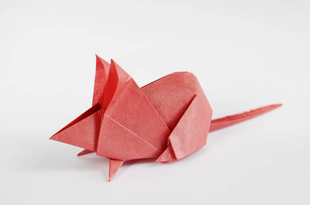 origami mouse - chinese new year stock pictures, royalty-free photos & images