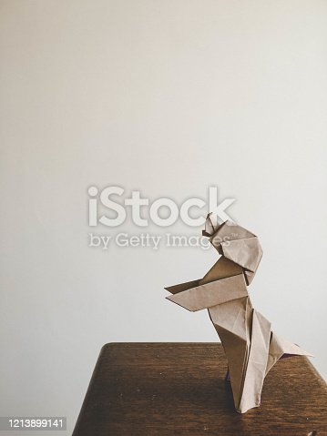 Cute standing dog origami