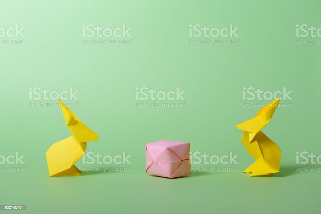 Origami Easter Bunny Container/Basket (Full HD) - YouTube | 683x1024
